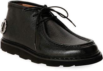 Salvatore Ferragamo Men's Terry Gancini Leather Chukka Boots