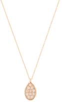 Ila Genevra Pear-Shaped Rose Gold & Diamond Pendant Necklace