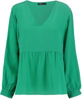 Maje Washed-silk blouse