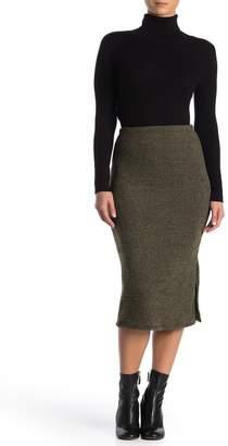 Velvet Torch Ribbed Knit Pencil Skirt