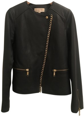 Michael Kors Blue Leather Jacket for Women