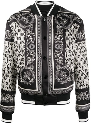 Dolce & Gabbana Bandana Print Bomber Jacket