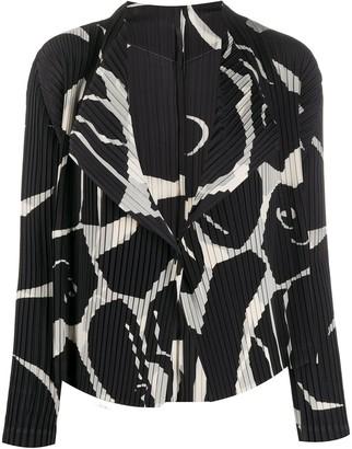 Issey Miyake Patterned Pleated Jacket