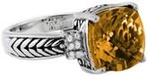 Effy Jewelry Effy 925 Citrine and Diamond Ring, 4.81 TCW