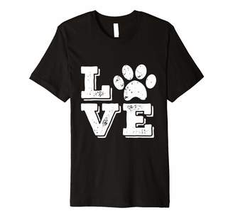 I Love My Dog Paw Print T-Shirt For Men Women And Kids
