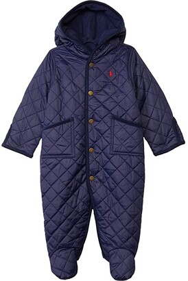 Polo Ralph Lauren Kids Solid Bunting (Infant) (Cruise Navy) Boy's Jumpsuit & Rompers One Piece