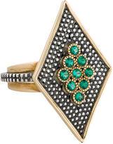 Moritz Glik Two-Tone Emerald Ring