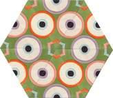 Kinder GROUND Large Hexagon Carpet - Grass Circle Dot (6 piece Triangle)