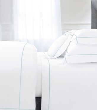 Yves Delorme Athena Aqua Single Flat Sheet (180cm x 290cm)