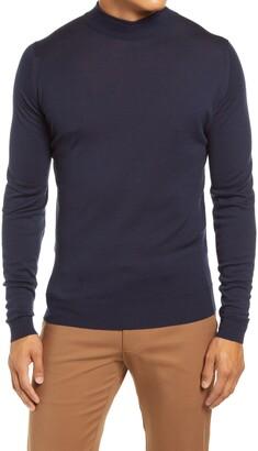 John Smedley Slim Fit Mock Neck Merino Wool Sweater