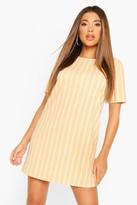 boohoo Pastel Short Sleeve Stripe Shift Dress