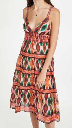 Santina Lace Tiered Midi Dress