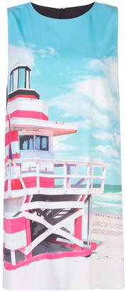 Boutique Moschino Lighthouse Print Shift Dress