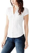 GUESS Women's Suvi Short-Sleeve Shirt