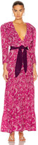 Adriana Degreas Flower Bloom Ruffled Long Dress in Pink | FWRD