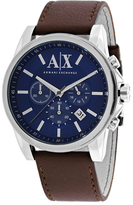 Armani Exchange Chronograph Collection AX2501 Men's Leather Strap Watch