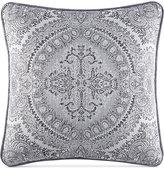 "J Queen New York Colette Silver 18"" x 18"" Decorative Pillow"