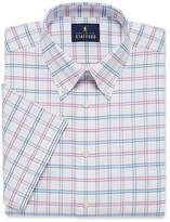 STAFFORD Stafford Travel Wrinkle Free Oxford Big And Tall Short Sleeve Oxford Checked Dress Shirt