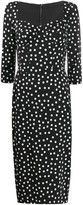 Dolce & Gabbana corseted polka dot dress