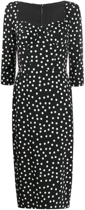 Dolce & Gabbana Corseted Polka Dot Dress