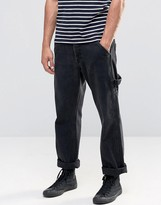 Asos Straight Jeans With Carpenter Styling