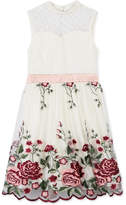 Speechless Rose Embroidered Fit and Flare Dress, Big Girls (7-16)