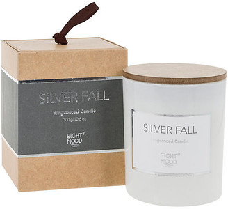 One Kings Lane Pure Candle - Silver Fall - dark gray/white