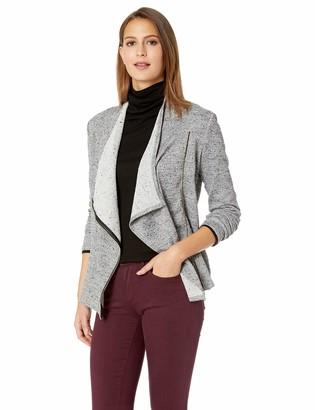 Chaus Women's L/S Zip Up 2-Tone Terry Jacket