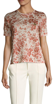 Gucci Bee Embellished Floral Print Top