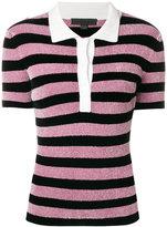 Alexander Wang striped knit polo shirt