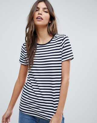 Asos DESIGN t-shirt with crew neck in stripe