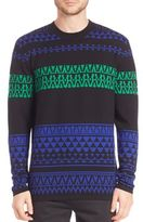 McQ by Alexander McQueen Geometric Fair Isle Wool Sweater
