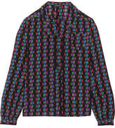 Etro Printed Silk-crepe Blouse - Black