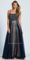 Dave and Johnny Semi Sweetheart Spaghetti Strap Beaded Prom Dress