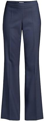 HUGO BOSS Tulea Side Zip Wool-Blend Pants