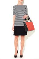 Wallis Black And White Stripe Drop Waist Dress