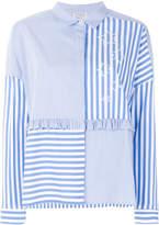 Twin-Set striped colour-block blouse