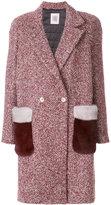 Eleventy fur pocket coat
