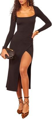 Reformation Dottie Long Sleeve Midi Dress
