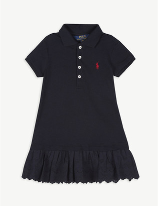 Ralph Lauren Embroidered peplum polo shirt dress 2-14 years