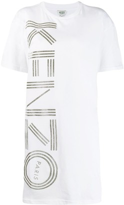 Kenzo glitter logo print T-shirt dress