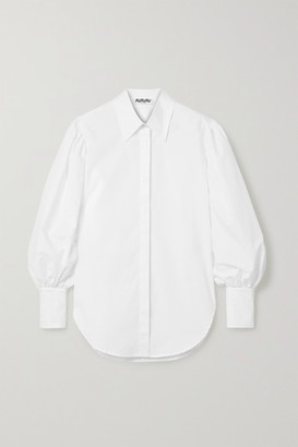 AVAVAV Oversized Cotton-poplin Shirt - White