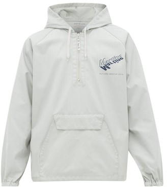 Martine Rose Logo-print Hooded Twill Windbreaker - Grey