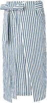 Eudon Choi central slit striped skirt