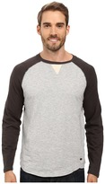 True Grit Vintage Raglan Long Sleeve Tee with Stitch and Trim Detail
