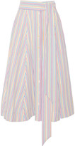 Lisa Marie Fernandez Striped seersucker midi skirt