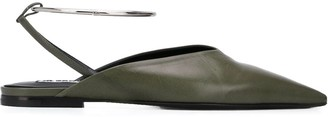 Jil Sander Metal Ankle Strap Mules