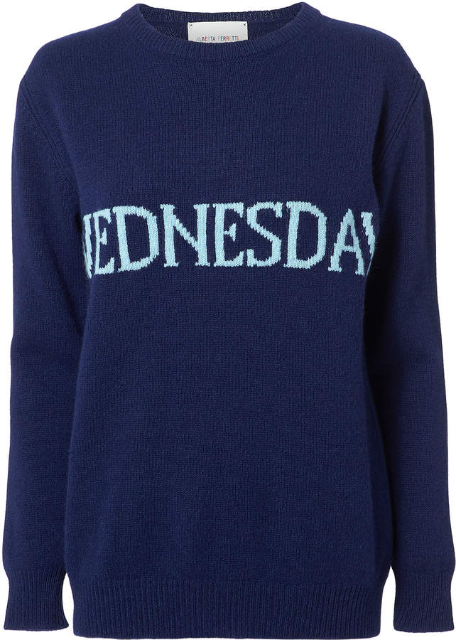 Alberta Ferretti Wednesday Navy Sweater