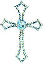 Marbella Swarovski Crystal Cross Adhesive Tattoo