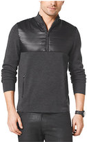 Michael Kors Quilted Nylon And Wool Half-Zip Pullover